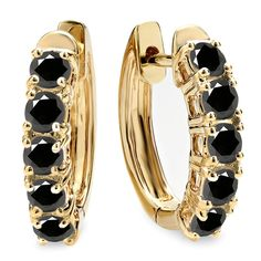 1.00 Carat (ctw) 14K Yellow Gold Ladies Huggies Hoop Earrings 1 CT *** Continue to the product at the image link.