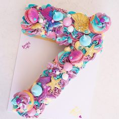 """Sprinkle Me on Instagram: """"'7' mermaid style!! 🧜♀️ ... ... Inspired by @christinascupcakes 😘"""" Rapunzel Birthday Cake, 7th Birthday Cakes, Mermaid Birthday Cakes, Pretty Birthday Cakes, Mermaid Cupcake Cake, Cupcake Cakes, Drip Cake Recipes, Cake Lettering, Number Cakes"""