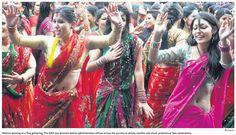 Happy Dance! Women prepare for Teej festival!