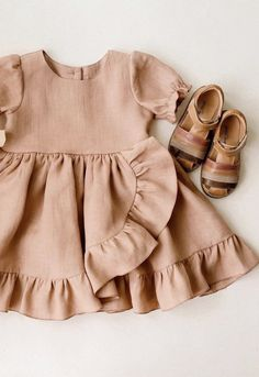 Little Girl Outfits, Little Girl Dresses, Baby Outfits, Kids Outfits, Baby Dresses, Toddler Outfits, Baby Clothes Patterns, Baby Kids Clothes, Baby Girl Fashion