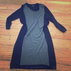 Black And Grey Sweater Dress