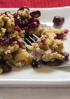 Cranberry Banana Oatmeal Bake