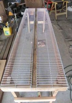 DIY Greenhouse - How To Build A Greenhouse Planter Bench Here's a greenhouse planting table tha. Build A Greenhouse, Greenhouse Gardening, Container Gardening, Gardening Tips, Greenhouse Ideas, Greenhouse Heaters, Homemade Greenhouse, Cheap Greenhouse, Greenhouse Benches