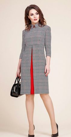 My kind of plaid dress is part of Fashion dresses - Popular Ladies African Fashion, Korean Fashion, Work Fashion, Fashion Design, Fashion Fashion, Fashion 2018, Korean Dress, Mode Outfits, Plaid Dress