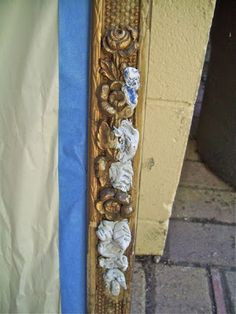 The Polka Dot Closet: How to repair gesso (Decorative boarder) frames