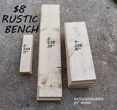 DesignDreams by Anne: The $8 Rustic Bench Project