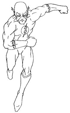 flash coloring pages marvel - photo#17