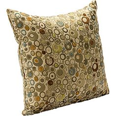 @Overstock.com - Marble Accent Pillow - This colorful interior decor pillow is designed with graphic prints. Circular shapes outlined in green, brown, olive, and beige define this pillow. It is a 16-inch accent pillow that will complement a variety of furnishing styles.  http://www.overstock.com/Home-Garden/Marble-Accent-Pillow/6575964/product.html?CID=214117 $30.99