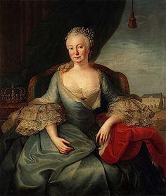 ca. 1764 Elisabeth Christine of Brunswick-Bevern by Frederic Reclam (Schloß Schönhausen, Berlin Germany)