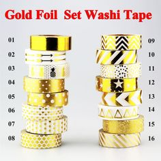 New !10m Gold Foil Washi Tape Adhesive Scrapbooking Tools Christmas Party Kawaii Photo Album MaskingTape decoration Paper Crafts   http://www.slovenskyali.sk/products/new-10m-gold-foil-washi-tape-adhesive-scrapbooking-tools-christmas-party-kawaii-photo-album-maskingtape-decoration-paper-crafts/     USD 1.39/pieceUSD 10.00/lotUSD 8.20/lotUSD 6.55/lotUSD 1.60-1.70/pieceUSD 9.82/lotUSD 6.55/lotUSD 1.19-1.39/piece            Brand New and High Quality Gold Foil Washi Tape Pap