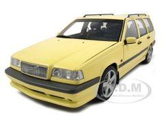 1995 Volvo 850 T-5r Estate Wagon Cream Yellow Diecast Car Model 1/18 Die Cast Car By Autoart