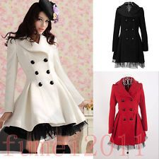 Womens Coat Princess Lolita Sweet Gothic Lace Long Jacket White Warm Parka New... have this coat in red and I absolutely love it. I feel as if I am a model every time I put it on :-)