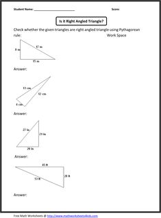 Printables Pythagorean Theorem Worksheets pythagorean theorem law and worksheets on pinterest worksheet