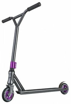 "Crisp Ultima ICS Pro Scooter (Silver/Purple) by Crisp Scooters. $199.99. Stainless flex brake.  No Rattle.. 110mm durable spoked ""Cutter"" wheels and high quality ABEC 9 bearings. Weight - 8.3 lbs, Deck width - 4.25"". ICS Compression with Semi Integrated threadless headset and Crisp threadless fork with Cro-Mo Steere. Bars - 20.5"" high x 19.0"" wide, Head Tube Angle - 82.5. The Crisp Ultima is one of the best complete pro scooters on the market today. With the clean d..."