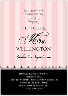 Bachelorette party invite - makes me think of victoria's secrets ;)!