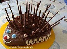 GEBURTSTAGS-IGEL - Ein Rezept von KINDERREZEPTE.DE zu finden unter Geburtstagskuchen/festliche Kuchen aus dem Bereich Backen