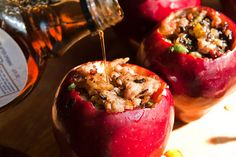 Another Pint Please...: Baked Apple Stuffed with Sausage and Sage: What's on the Grill #145