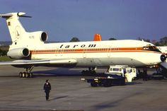 The airline operated to the Black Sea resorts from several Uk regional airports, including BHX in the early A BA Viscount resting over the weekend sits behind this hulking great tri-jet. Tarom Airlines, Weekend Is Over, Regional, Golden Age, Romania, Airplanes, Aircraft, Commercial, Europe