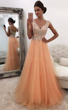 Sexy Tulle Beaded Prom Dress,Tulle Long Prom Dress #prom #promdress #dress #eveningdress #evening #fashion #love #shopping #art #dress #women #mermaid #SEXY #SexyGirl #PromDresses