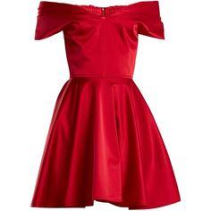Emilio De La Morena Tamara off-the-shoulder stretch-silk dress ($919) ❤ liked on Polyvore featuring dresses, red, red cocktail dress, red off the shoulder dress, red ruched dress, ruched dress and off-shoulder dresses