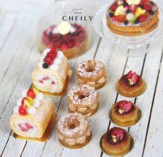 Dollhouse miniature dessert- Paris brest x1