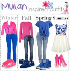 Mulan inspired outfits :) by shannonstyles on Polyvore featuring Closed, Tripp, CIMARRON, Current/Elliott, J Brand, McQ by Alexander McQueen, Supra, Vans, TOMS and Disney