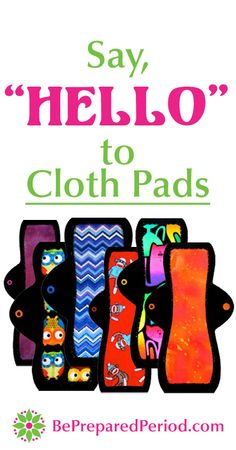 """""""One of the most common period-related myths is that there are only two types of feminine protection available: disposable pads and tampons. In reality, we have tons of other choices! Some of the most popular include menstrual cups, sea sponges, diaphragms, and my favorite: reusable cloth pads."""" Learn why you should consider cloth pads and how they work at http://www.bepreparedperiod.com/blog/say-hello-to-reusable-cloth-pads #clothpads #reusable #eco #menstrual"""