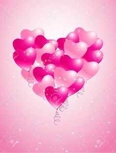 """Buy the royalty-free Stock vector """"Romantic background with hearts"""" online ✓ All rights included ✓ High resolution vector file for print, web & Social M. Love Heart Images, I Love Heart, Shoe Cupcakes, Balloon Background, Disney Princess Drawings, Heart Balloons, Colorful Artwork, Everything Pink, Birthday Cupcakes"""