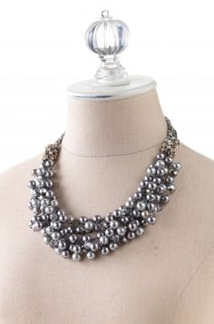 cute to wear with black and white dress for christmas - stella & dot isadora necklace