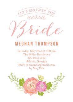 Floral Garden Bridal Shower Invitation designed by Berry Berry Sweet on Celebrations.com