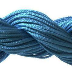 Lot 5m cordon nylon spécial shamballa bleu foncé 1mm