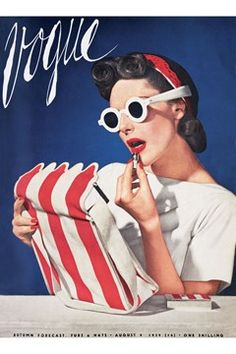 August 1939 fashion - look at these glasses, they are popular now -- www.blucats.com New marketplace for arts& crafts& vintage