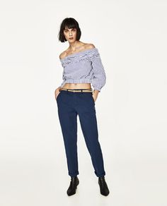 CHINOS WITH BELT-Trousers | Jeans-SPECIAL PRICES-WOMAN | ZARA United Kingdom