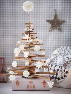 Diesen Weihnachtsbaum können Sie jedes Jahr aufs Neue schmücken - und er fängt niemals an zu nadeln. Hier kommt die Anleitung zum Selbermachen.