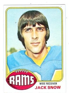 Jack Snow football card 1977 Topps #401 (Los Angeles Rams) by Hall of Fame Memorabilia. $30.95. Jack Snow football card 1977 Topps #401 (Los Angeles Rams). This item comes with a certificate of authenticity from AW Authentic.