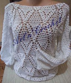 εϊз Art n Crochet εϊз: Blusa com fio Rayza Vest