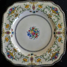 Minton English China Cake Square Plate Talbot Pattern | eBay & Crown Ducal FESTIVAL Square Dinner Plate 8591487 | China Patterns ...