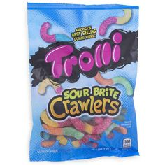 Sour Brite Crawlers Gummi Worms come in original flavors and colors. Guests at your party will be grabbing handfuls of these sour worms to enjoy the classic sour taste! All Candy, Sour Candy, Candy Bags, Candy Buffet Tables, Five Below, Mini Donuts, Kids Party Supplies, Candy Store, Party Stores