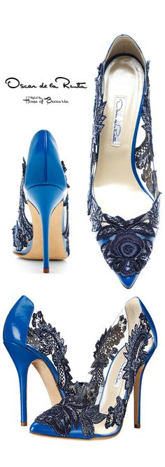 ~Oscar de la Renta Alyssa Lace Pump | House of Beccaria#
