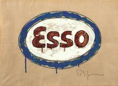 Pop-Art italià: Mario Schifano, artista destacat. Títol de l'obra. Esso.