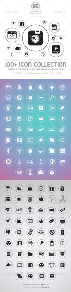 Flat Icons by shamcanggih Icon design suitable for business SEO, web element, graphics and many more. 104 Vector icon color variation ( Black ve Flat Web Design, Adobe Illustrator Cs6, Icon Collection, Information Graphics, Graphic Design Projects, Messages, App Icon, Vector Icons, Website Template