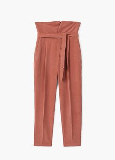 Bow belt trousers