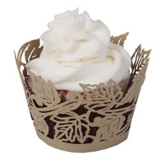 cupcake wraps | Autumn Cupcake Wrapper - Cupcake Wrappers by Paper Orchid Stationery