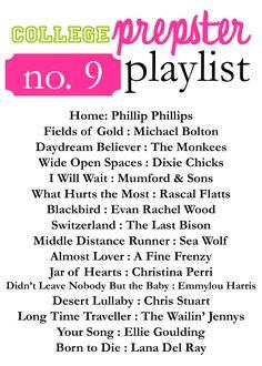 College Prepster Playlist No. 9