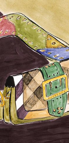 Unique artworks, unique bags – The Patchwork, illustrated by British artist Luke Edward Hall for the new Burberry 2016 campaign