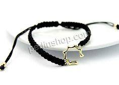 Nylonschnur Shamballa Armband, mit Zinklegierung, 18 K vergoldet, einstellbar, schwarz, 20x16mm, Länge:ca. 7 Inch1, 6Stränge/Pack, verkauft von Pack - perlinshop.com