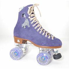 My new kick ass purple Moxi Lolly Roller Skates. Woo hoo no blisters from rental skates.