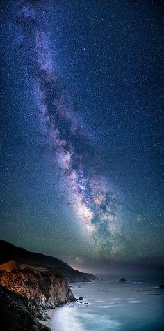 Galaxy Coast by Bill Shupp, via Flickr Near Bixby Bridge north of Big Sur, California