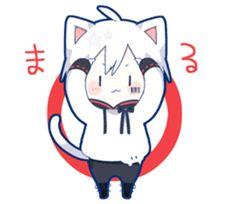 kobayashi-san chi no maid dragon elma chibi stiquer Chibi Cat, Cute Anime Chibi, Me Anime, Fanarts Anime, Anime Neko, Kawaii Anime Girl, Anime Guys, Anime Art, Gato Anime