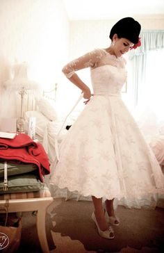 new ideas wedding dresses vintage pin up 50s Wedding, Elegant Wedding Dress, Wedding Ideas, Rockabilly Wedding Dresses, 50s Style Wedding Dress, Rockabilly Clothing, Wedding Photos, Dream Wedding, Wedding Rings